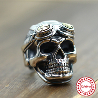 S925 sterling silver men's ring personalized fashion classic retro jewelry skull pilots styling send love gift 18 years hot