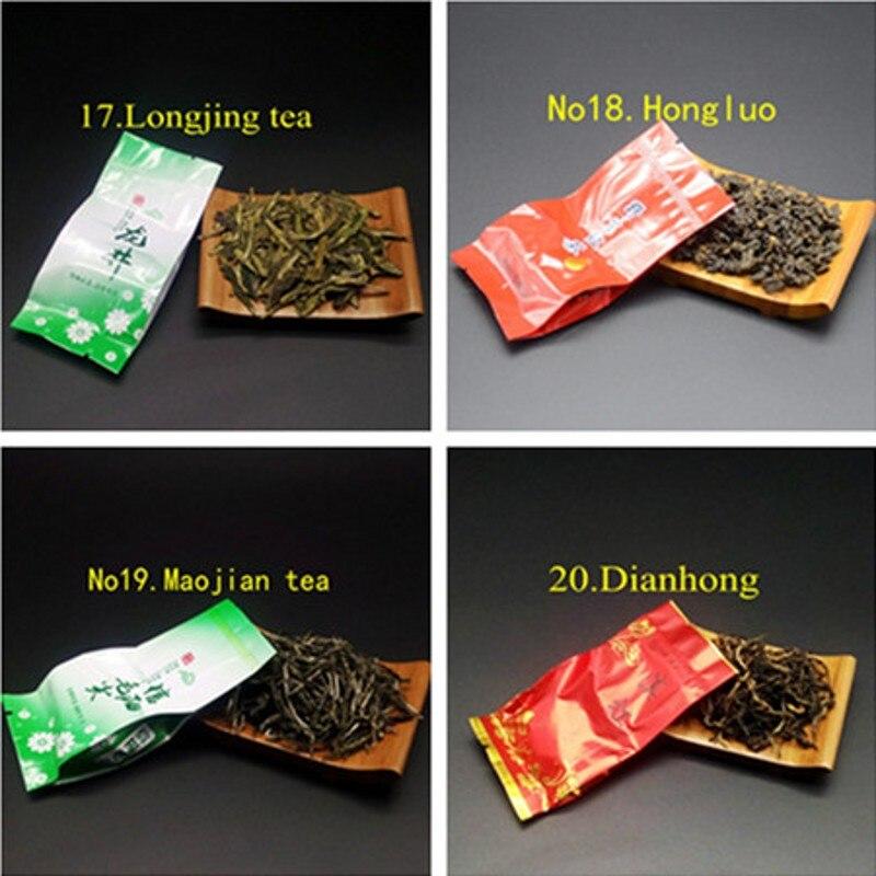 20 Different Flavors Chinese Tea Includes Milk Oolong Pu-erh Herbal Flower Black Green Tea 5
