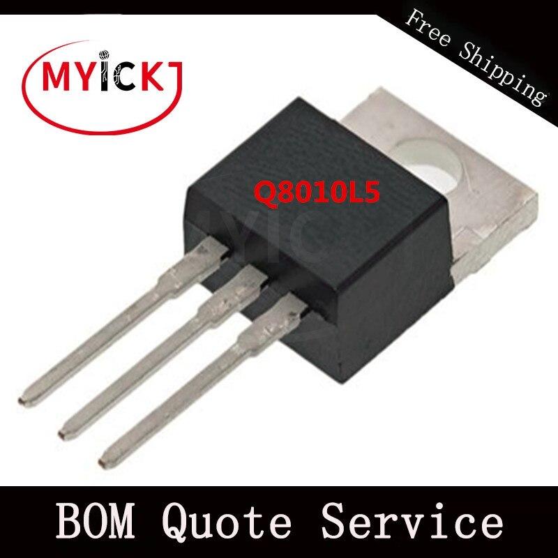 10PCS Q8010L5 Triacs (0.8 A To 35 A)   IC CHIP