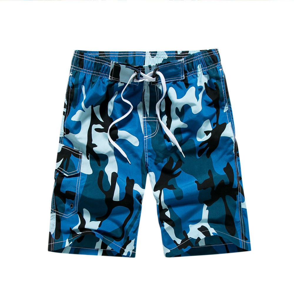 Days Pullen 17 Years Summer New Style Camouflage Quick-Dry MEN'S Beach Pants Casual Shorts Men's Loose And Plus-sized 1706
