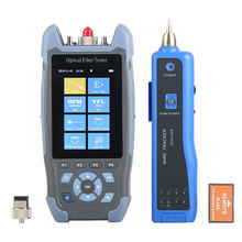 Pro mini OTDR Fiber Optic Reflectometer AUA900D with 9 Functions VFL OLS OPM Event Map 24dB for 64km Fiber Cable Ethernet Tester