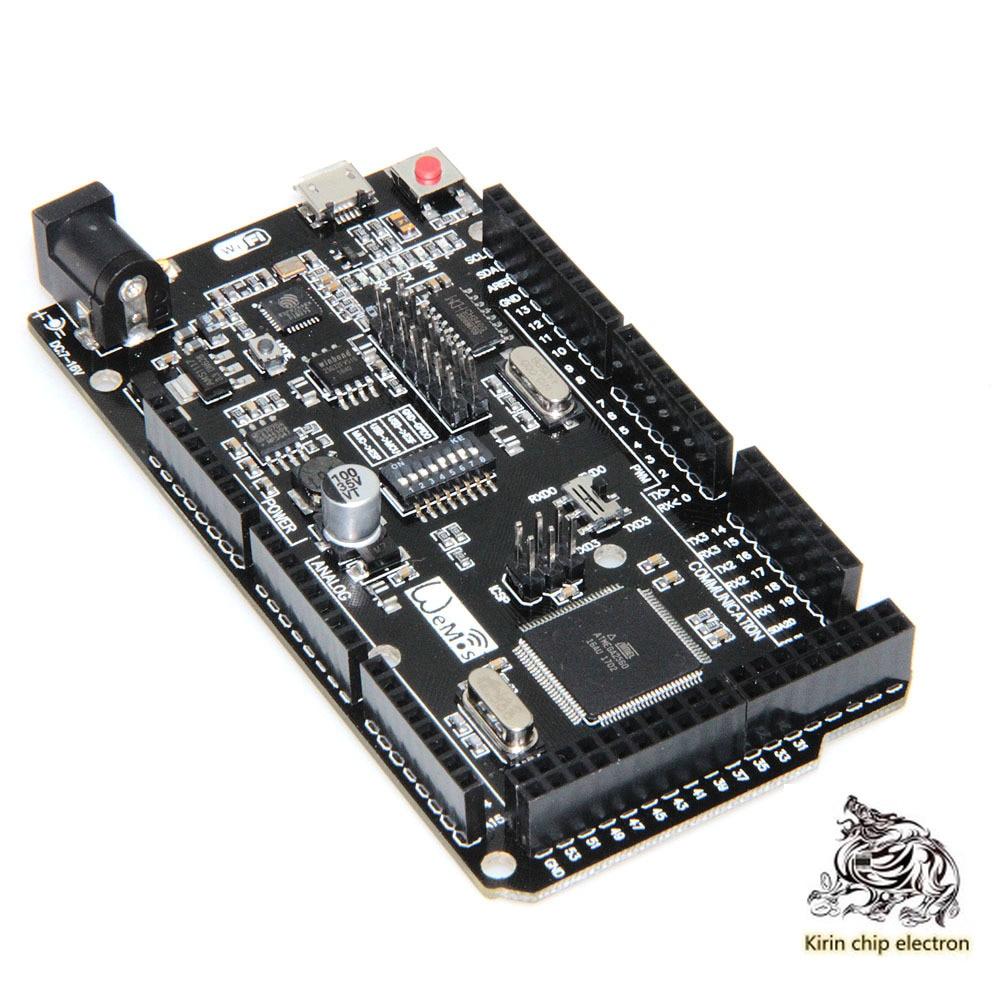 1PCS/LOT WIFI R3 ATMEGA2560 + ESP8266 (32MB of memory) usb-ttl CH340G