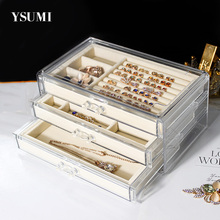 Jewelry Tray With Storage Box Ring Earring Necklace  Organizer Case Women Necklace Pendants Tray Jewelry Display Box YSUMI цены онлайн
