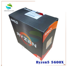 CPU Processor 5600x3.7-Ghz Amd Ryzen AM4 Six-Core Twelve-Thread 65W NEW with Cooler-Fan