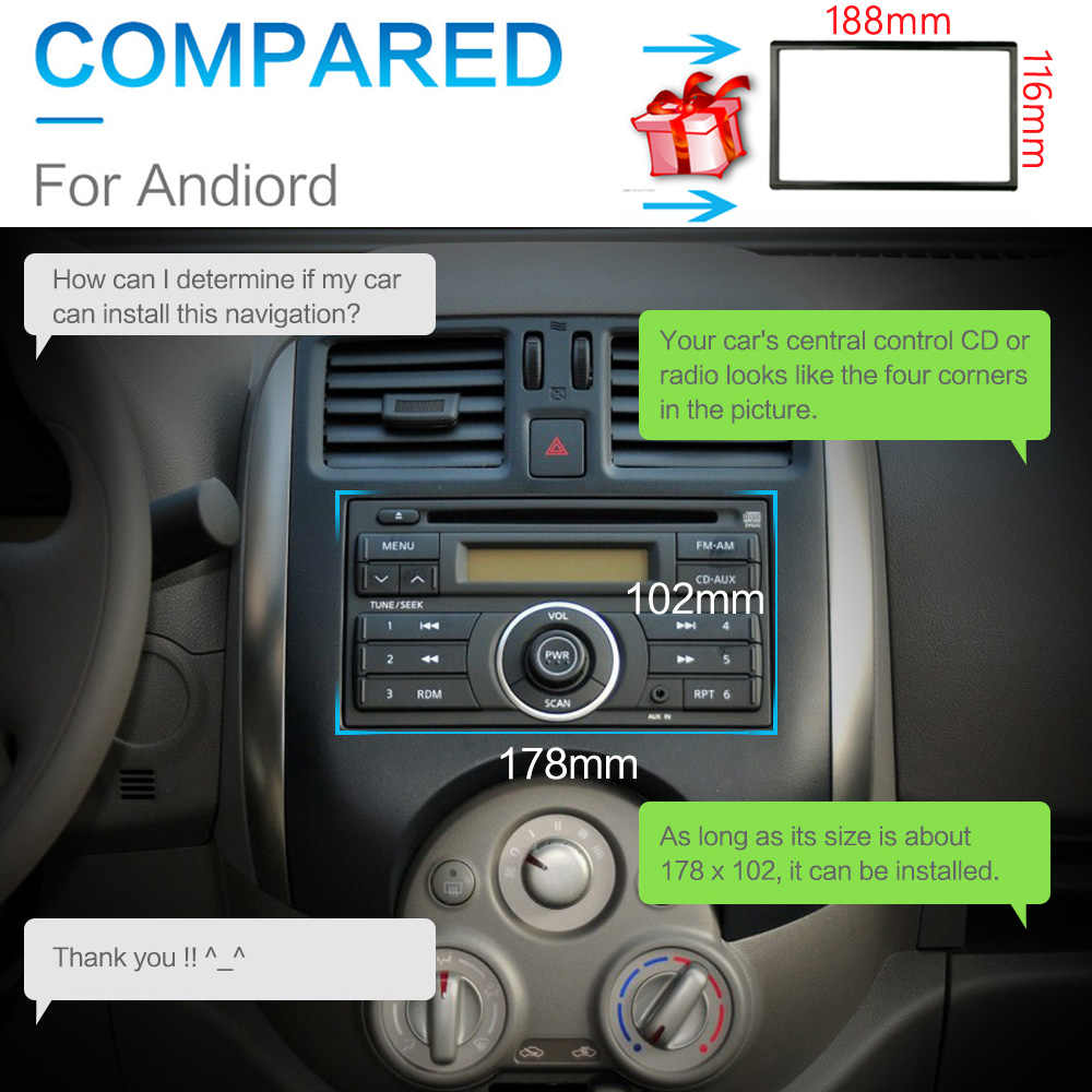 7 pulgadas 2Din Android8.1 radio Multimedia Player navegación GPS Universal para Nissan peugeot toyota doble din Autoradio