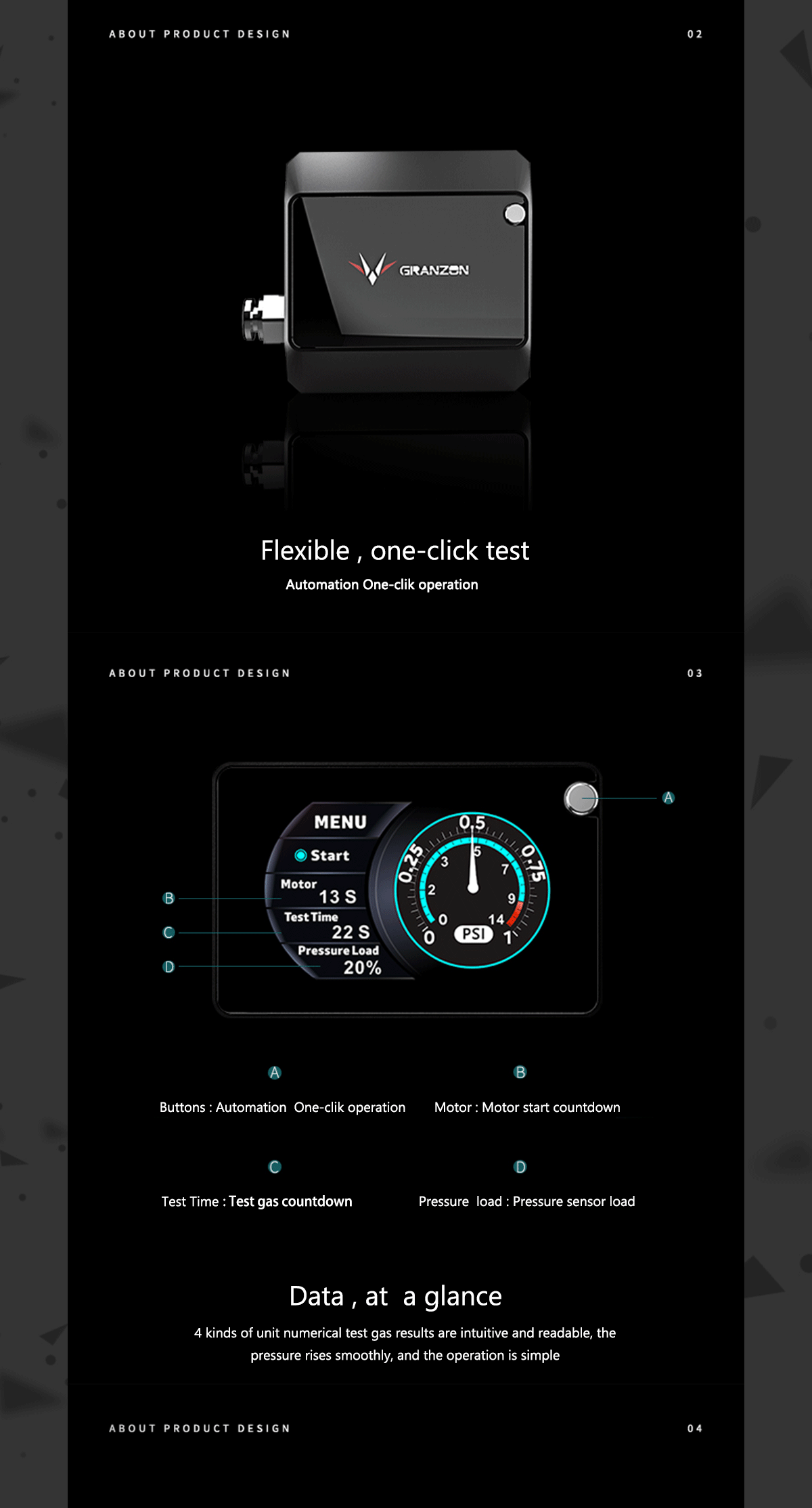 Granzon Air Leaker Tester Fully Automatic OLED Display Screen Leak Test Device Computer Water Cooling Tools, GYB