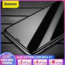 Baseus الزجاج المقسى آيفون X حامي الشاشة 4D سطح التغطية الكاملة الزجاج آيفون X الجبهة فيلم غطاء 0.3 مللي متر رقيقة