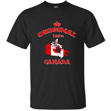 Funny Casual Humor canada original 100% national flag gift t-shirt male female 2019 Vintage summer men tshirt humorous(China)
