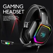 Przewodowe słuchawki gamingowe głębokie B zestaw słuchawkowy z mikrofonem Stereo dla PS4 nowy komputer Laptop Gamer