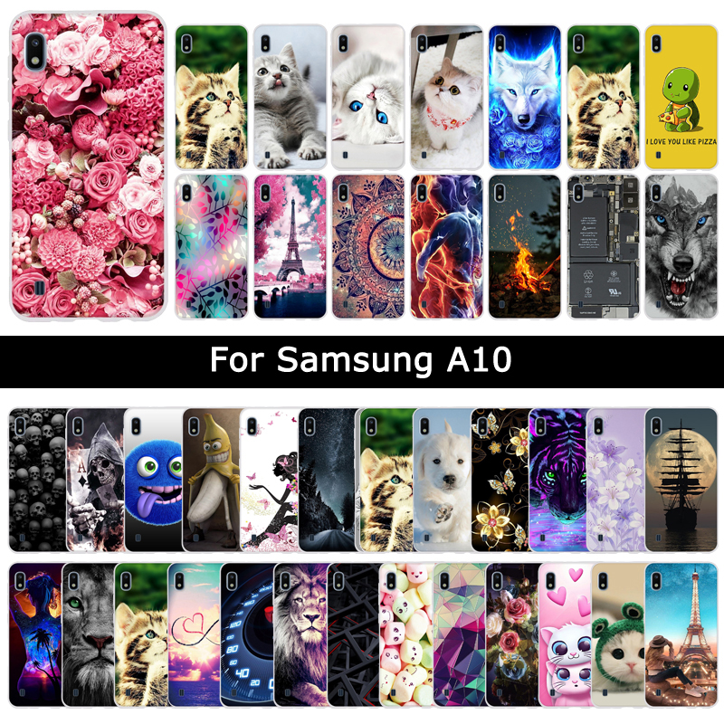 Soft Silicone TPU <font><b>Case</b></font> For <font><b>Samsung</b></font> Galaxy <font><b>A10</b></font> A 10 Animal Colorful Painting Cover Phone Protective Shell <font><b>Cases</b></font> Fundas Coque Capa image