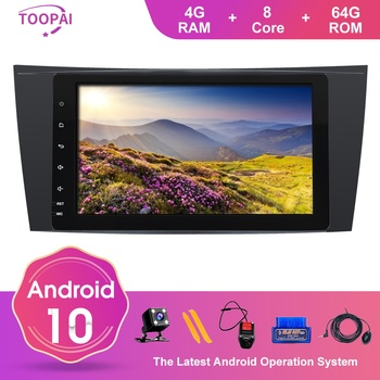 TOOPAI Android 10 For Mercedes Benz E W211 CLS W219 G-Class W463 W209 Auto Radio GPS Navigation Multimedia Player IPS DSP SWC image