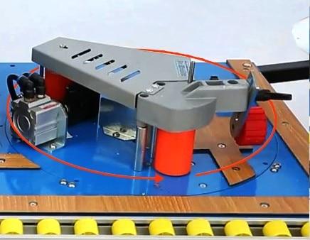 MY06B мульти 42 кг машинка для облицовывания кромки машина с склеивания, обрезки и концевой резки с функцией вращения для прямой, кривой - Цвет: round rotation