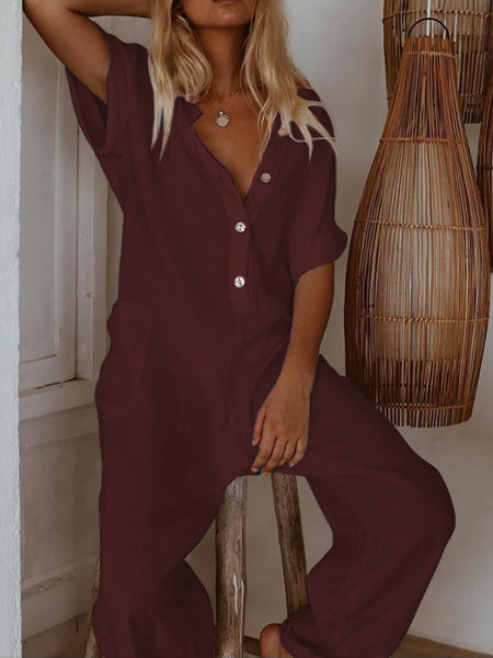2019 European And American-Style New Style Summer Women's Cotton Linen Slim Fit Onesie Casual Pants Women's
