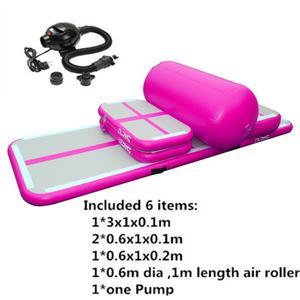 Image 4 - 6 pçs/set 3M AirTrack inflável Ginástica Desgaste resistente esteira de ginástica caindo Chão ginásio Trampolim esteira do treinamento trilha de ar com Bomba