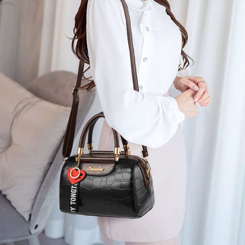 Vintage Stone Pattern Shoulder Crossbody Bags for Women 2021 Luxury Brand Designer Women's Handbags Female Pu Leather Tote Bag