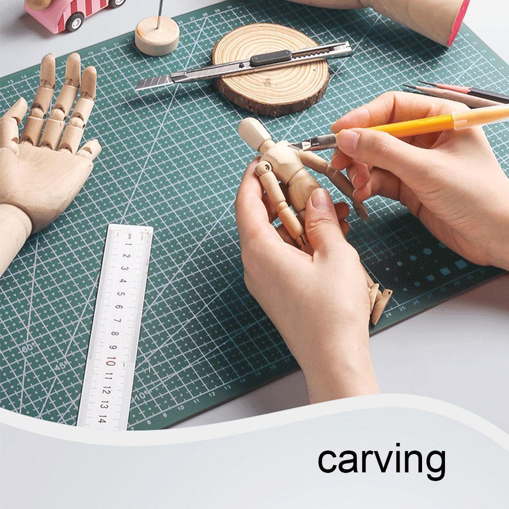 1PC A4 Cutting Mat Grid Lines Self Healing Cutting High Card Mats Board Paper Craft Quality Fabric Leather For Sewing 30*20 B6D7