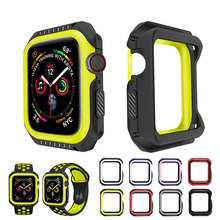 Soft TPU Watch Case for Apple 5 4 40MM 44MM Cover Frame Full Protection Cases iWatch Candy Protective