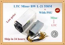 Бесплатная доставка, Майнер LTC Scrypt MLTC Miner BW L-21 550 м с BITAMIAN PSU Litecoin 900 Вт на стене лучше, чем ANTMINER L3 +