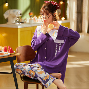 Image 3 - Pyjama Women Clothes Pajamas Sets Cute Print Long sleeved Sleepwear Suits Lady Fashion Casual Sleepwear Soft Nightwear Suit