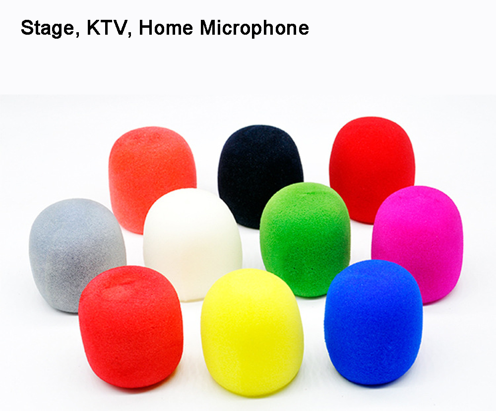 5 PCS Microphone Sponge Handheld Stage Popular Great Karaoke Shield Windshield Microphone Cover Foam Pop Filter Random Color