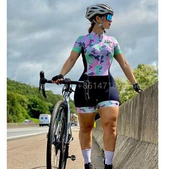 XAMA Ciclismo para Mujer mono ir Pro bicicleta Ropa de equipo de...