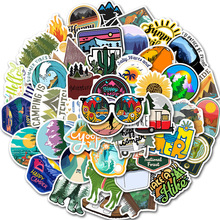 50 Pcs/lot Hiking Travel Stickers Adventure Outdoor Wildness Landscape Waterproof PVC Decal for Car Laptop Suitcase