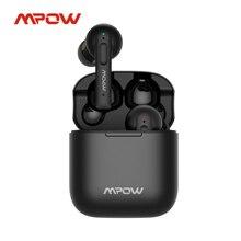 Mpow Bluetooth付きワイヤレスヘッドセット,アクティブノイズキャンセリング,4つのマイク,重低音,ステレオ,30時間再生