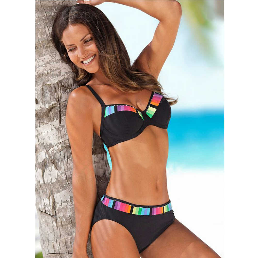 TYAKKVE Sexy 2019 Bikini conjunto traje de baño mujeres traje Push Up lunares Bikini de talla grande baño de playa Biquini 3XL