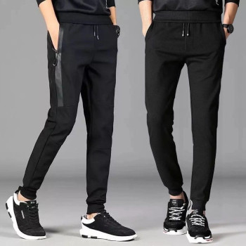 цена на 2020 High Quality men Joggers pants Winter Causal Pants Zipper Pockets Cotton Solid Sporty Pants Men Tracksuit Trousers Male
