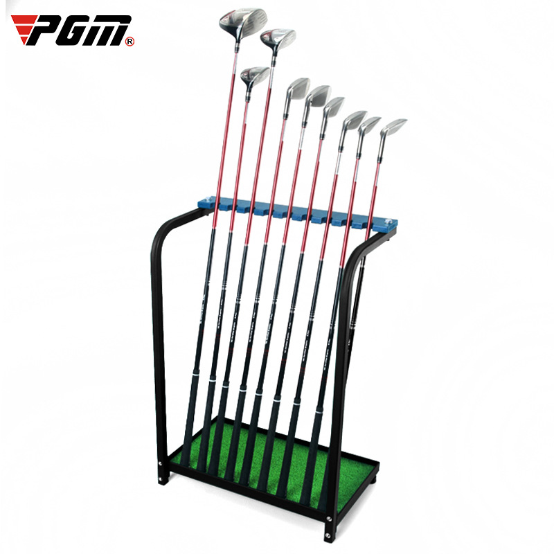 PGM High Quality Golf Clubs Steel Cue Display Stand Acrylic Board Storage Range Supplies Can Put Down 9 Clubs Golf Accessories
