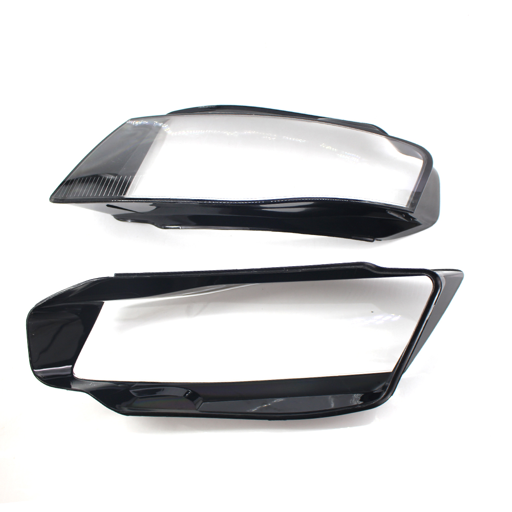 Left/Right Front Headlights Shell Lamp Shade Clear Lens Cover Headlamp Lenses Case Lampshade For Audi A4 B8 2009-2012