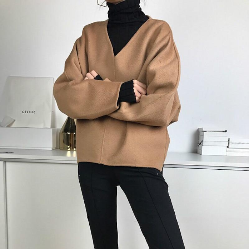 Women Jacket V neck Profile Top Coat|Jackets| - AliExpress