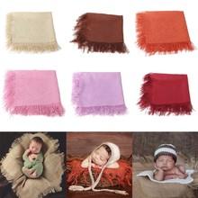 Bébé gland réception couverture nourrissons dormir lange d'emmaillotage nouveau-né photographie accessoires douche cadeaux 75x75cm