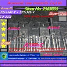 Aoweziic 2018 + 100% nouveau importé original 2sa1668 2sc4382 y 2SA1668 2SC4382 A1668 C4382 TO 220 Transistor amplificateur de puissance