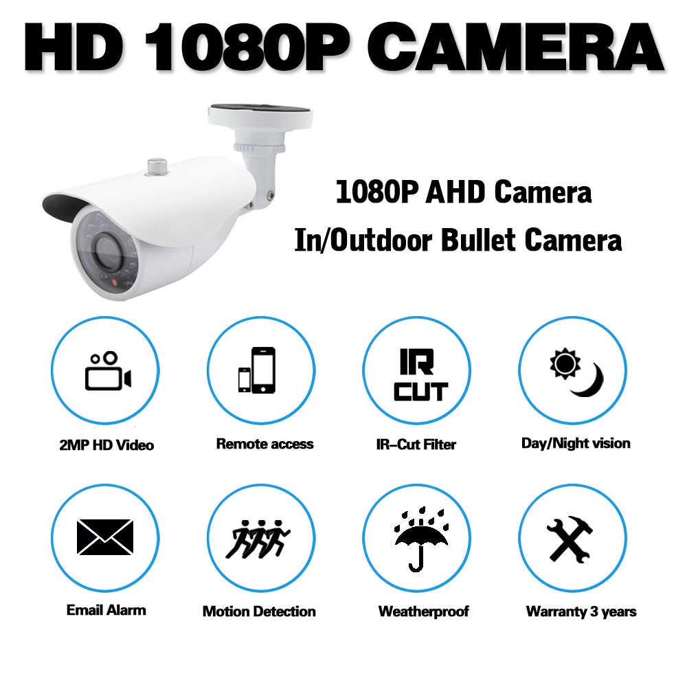 AHD Analog kamera 1080P yüksek çözünürlüklü açı Lens gece görüş su geçirmez mermi açık kameralar CCTV dış güvenlik kamerası