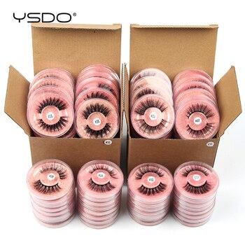 YSDO Lashes Wholesale 4/10/20/50/100 PCS Soft Thick Mink Eyelashes Natural Long False Eyelashes Makeup Wispy Faux 3D Mink Lashes 1