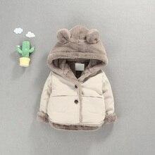 OLEKID sonbahar kış bebek polar ceket karikatür kapşonlu artı kadife bebek erkek ceket yenidoğan bebek kız giyim Toddler Parka