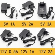 Adaptateur — Chargeur, 1 pièce, AC 100-240V à DC 5-12 V, 0,5, 1, 2 A, prise UE 5,5mm x 2,5 mm, prise micro USB