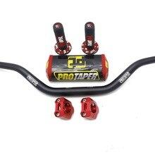 11/8'' Handle Bar 28mm Pro Taper Handlebar Grips Metal Clamps Pad MX Motorcross For YAMAHA YZ125 YZF WR WRF TTR 250 450