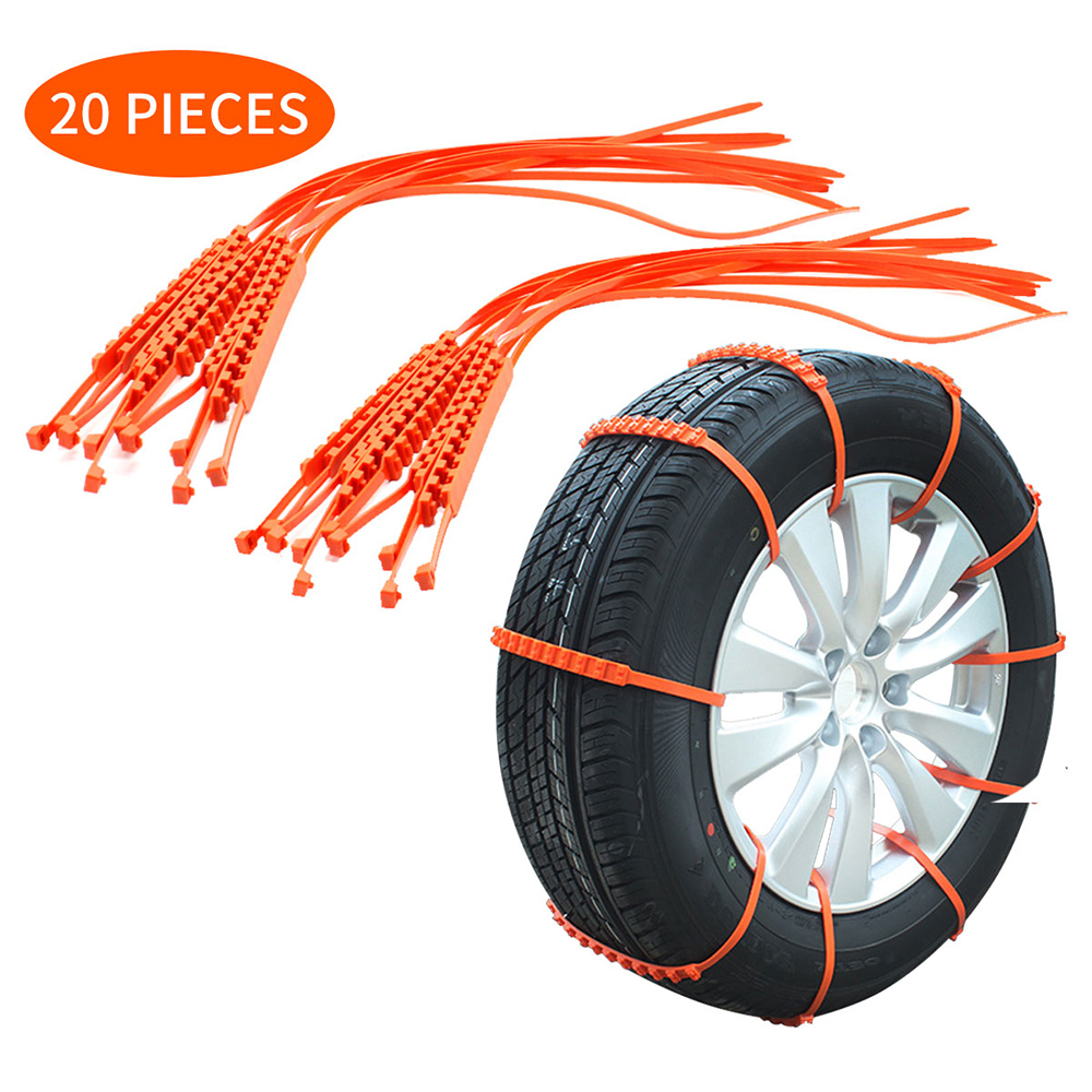 20PCS 10*910mm AP3285-Z Car Tire Anti-skid Strap Vehicle Tyre Non-slip Zip Grip Strip For Snow Ice Mud Prevention