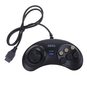 Image 2 - 6 Button Wired Controller Pad Gamepad For Mega Drive Megadrive Sega MD Genesis New