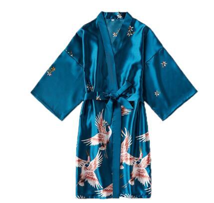 Bride Dressing-Gown Sleepwear Satin-Robe Silk Kimono Night-Grow Sexy Women Peignoir Fashion