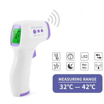 Gun IR Laser Non Contact Thermometer Infrared Forehead Digital Thermometer Fever Ear Thermometer for Baby Adults Outdoor Home image