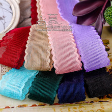 100yards 35 50 70mm waved edge hollow out mesh ribbon for garment apparel accessories bouquet flower gift packing bow