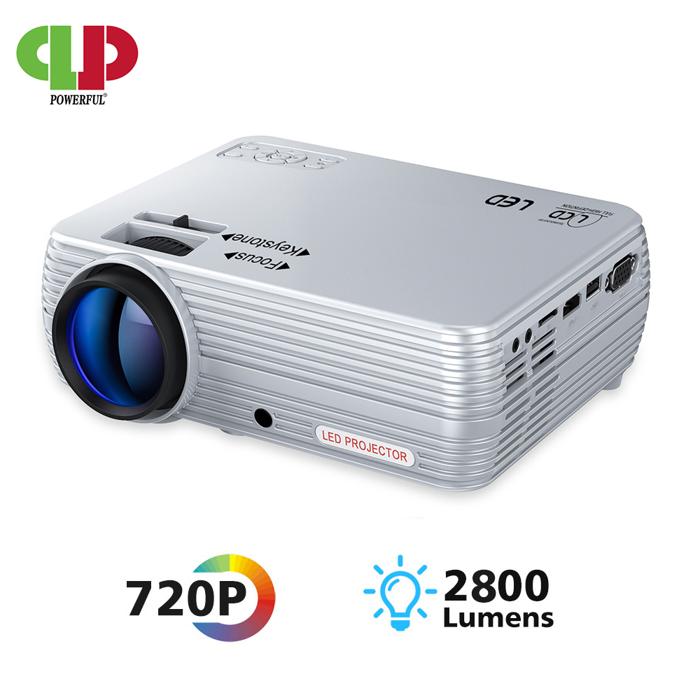 POWERFUL Mini Projector X5+ 1280*720P 2800 Lumens 1080P Support 3D Portable Beamer Connect via USB port HDMI VGA with TV box PS4|LCD Projectors| |  - title=