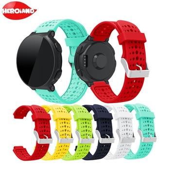 Silicone Wrist Strap Watch Band for Garmin Forerunner 220 230 235 630 620 735 XT Sport Smart Watch Replacement Bracelet replacement wristband wrist strap for garmin forerunner 235 220 620 630 735 735xt smartwatch fashio silicone watch band bracelet