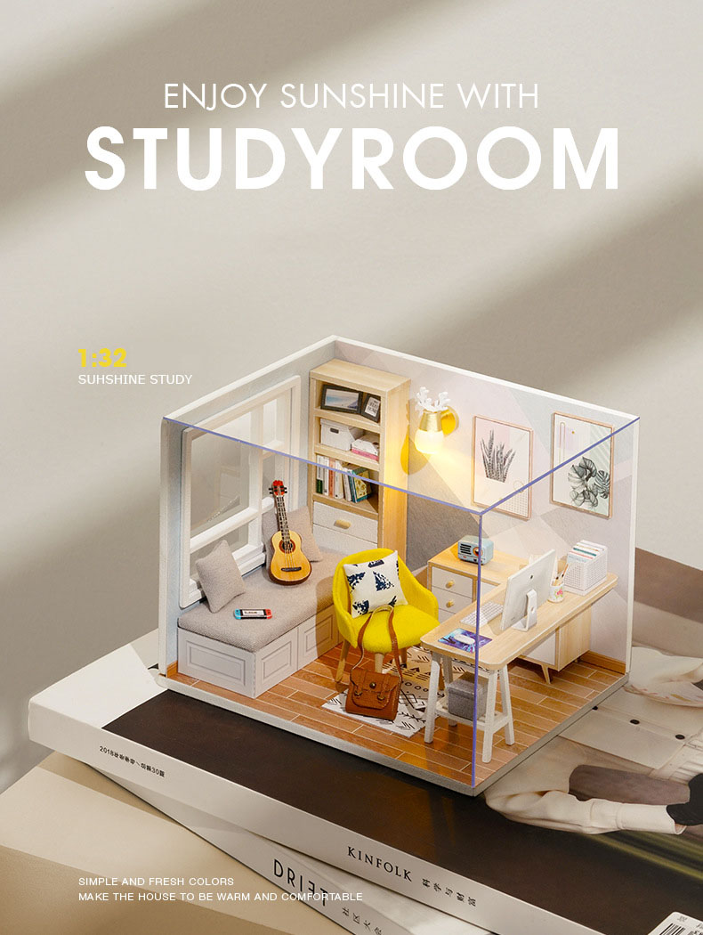 Sunshine Study DIY 3D Miniature Room Kit