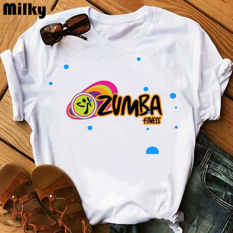 Zumba fitness t shirt women dance lover sport gymnastics T shirt femme hip hop tshirt summer tops graphic tees women tshirt 1