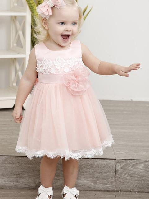 Купить короткое розовое платье с цветочным узором для девочек на свадьбу картинки