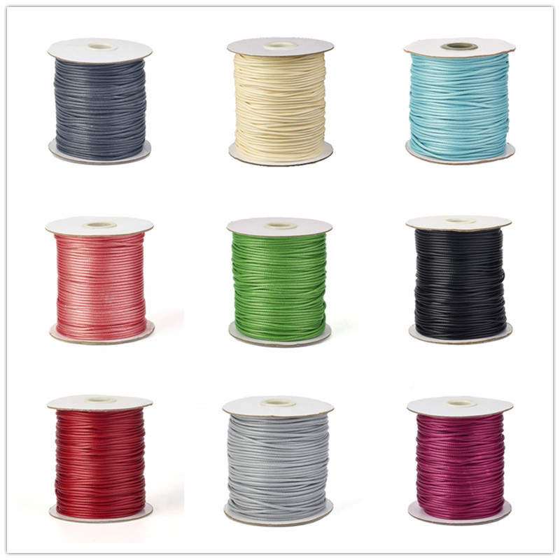 0.5/1/1.5/2/3mm Environmental Korean Waxed Polyester Necklace Bracelet Cord Thread For Jewelry DIY Accessories Making